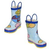Natural Colourful Hand Paint Rubber Children Winter Rain Boots