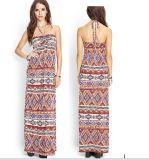 OEM 2015 Long Maxi Summer Beach Halter Women Dress
