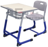 Hot Sale School Furniture School Wooden Double Desk and Chair