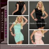 Hot Sale Lace Mini Bodycon Dress with Belt (T21809)