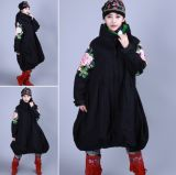 Winter Cotton Padded Clothes Women Chinese Folk Style Embroidery (D304)