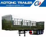 Tri Axles Cattle Animal Transport Fence Truck Trailer Livestock Semi-Trailer