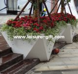 Fo-9043 Stainless Steel Flower Pot for Hotel Decorate