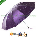 Fashion Design Printed Folding Umbrella with Black Coating Fabric (FU-31021Z)