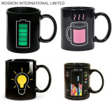 Hot Cold Heat Sensitive Color Changing Ceramic Battery Coffee Mug