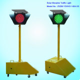 LED Solar Powered Movable Traffic Light with Powerful Alarming Function
