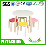 Children Wooden Furniture Kids Round Table and Chairs (SF-22C)