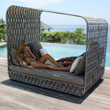 Fashion Sunshine Lounge Beach Circular Garden Furniture Rattan Sunbed T703