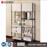 Easy Assembly Adjustable Steel-Wooden Unit Furniture with Drawers