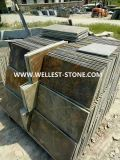 Wellest Natural Rusty Slate Paving Tile Floor Paving Slate Tile Wall Decorative Tile