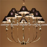 Iron Chandelier Lamp with Leather Shade (SL2096-6+6)