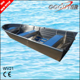Popular 21FT Large 2.0 Hull Thickness All Welded Aluminum Boat for Entertainment and Fishing