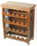 Solid Oak Wooden Wine Cabinet