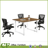 Metal Leg Small MFC Square Meeting Table for Discussion