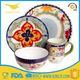 Wholesale Price Melamine Tableware 4PC Plate Bowl Dinner Service