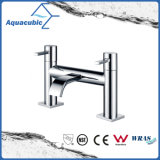 Round Body Chromed Two Holes Dual Handle Bathtub Faucet (AF1511-2)