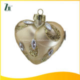 Factory Supplier Decorative Glass Heart Ornaments for Hanging