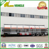 3 Axles German Suspension Tank Trailer Aluminium Tank for Edible Oil/Water Storage