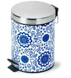 Newest Design Printed Colorful Dustbin/Colorful Stainless Steel Dustbin