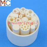 High Temperature Resistance Insulating 4 Holes Alumina Ceramic Tube