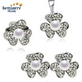 Hot Sale Pearl Set 8.5-9mm Button Freshwater Natural Pearl Set Pearl Type
