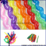 Wholesale Cheap Nature Latex Multicolor Twisting Spiral Balloon