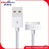 Mobile Phone Accessories White Color TPE USB Data Cable for iPhone 4