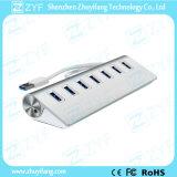 Top Grade Aluminum Wedge 7 Port USB Hub 3.0 (ZYF4107)