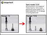 Kanger E-Cigarette Changeable Coil T3s Tank