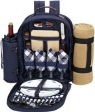 New Design Large BBQ Insulated Picnic Bag Basket Set