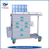 Multi Function ABS Hospital and Medical Nursing Trolley with Basket