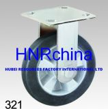 black elastic rubber heavy duty industrial caster