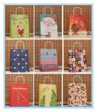 Various Christmas Santa Claus Paper Gift Bag/ Store Packaging Shopping Bag with Handle