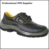 Genuine Leather Work Boots with Steel Toe and Plate