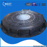 En124 C250 High Quality Ship Used Composite Hinged Manhole Cover with Frame