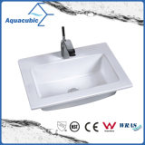 One Piece Bathroom Basin and Countertop Sink (ACB7350)