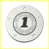 Silver Plated Thin Round Metal Sticker Plaque