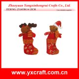 Christmas Decoration (ZY14Y98-3-4) Xmas Reindeer and Bear Sock