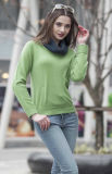 Ladies′ Round Neck Cashmere Sweater (1500002069)