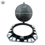 Watertight Vented Ductile Iron Manhole Cover, En124 D400, E600, F900, Applied to Sidewalks and Parks