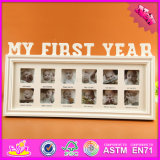 2016 Wholesale Wooden Family Photo Frame, 12 Hole Wooden Family Photo Frame, Lovely Wooden Family Photo Frame W09A043