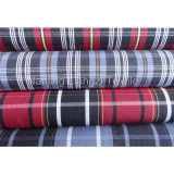 Cotton Yarn Dyed Check Fabric with Silk Handfeel (LZ5733)