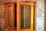 Solid Larch/Pine Wood Aluminum Casement Window