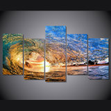 HD Printed Sunset Light Reflecting in The Wave Painting on Canvas Room Decoration Print Poster Picture Mc-047