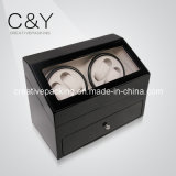 Piano Finish Lacquer Wood Automatic Watch Winder for 4 Watches