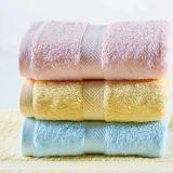 Solid Color Satin Border Cotton Hotel Towel (DPF201640)