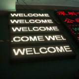 P7.62 White Color Programmable LED Message Sign