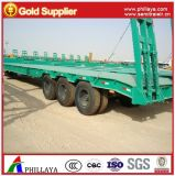 3axles 30-60tons Semi-Truck Lowbed Loader Low Bed Trailer