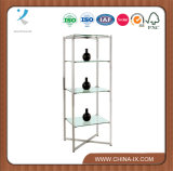 """52"""" Tall Glass Display Shelving Unit with 3 Glass Shelves"""