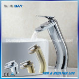 Bathroom Sink Chrome Finish Single Handle One Hole Basin Waterfall Faucet